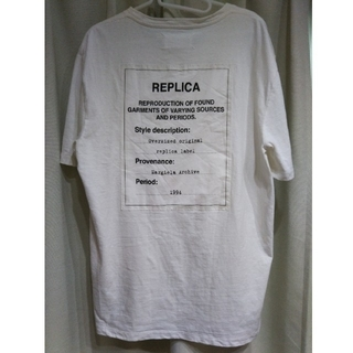 マルタンマルジェラ(Maison Martin Margiela)のマルジェラ 17SS レプリカTEE サイズ48(Tシャツ/カットソー(半袖/袖なし))