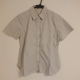 ムジルシリョウヒン(MUJI (無印良品))のMUJI LABO 半袖シャツ ストライプ 無印良品 S(シャツ/ブラウス(半袖/袖なし))