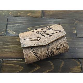 恐竜好き必見!化石カービングの極小ミニ財布Lサイズ(プテラノドン)(財布)
