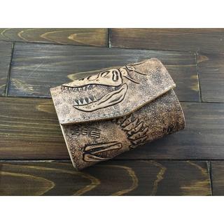 恐竜好き必見!化石カービングの極小ミニ財布Lサイズ(ティラノサウルス)(財布)