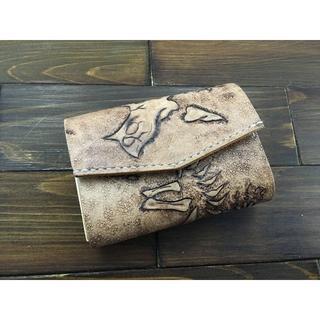 恐竜好き必見!化石カービングの極小ミニ財布Lサイズ(トリケラトプス)(財布)
