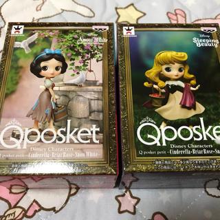 ディズニー(Disney)のQposket★眠れる森の美女オーロラ姫&白雪姫★2個セット(フィギュア)