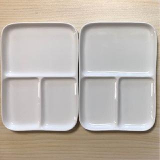 ムジルシリョウヒン(MUJI (無印良品))の無印 ランチプレート 角皿 電子レンジ (収納/キッチン雑貨)