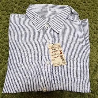 ムジルシリョウヒン(MUJI (無印良品))の無印 フレンチリネン洗いざらしストライプ半袖シャツ(シャツ)