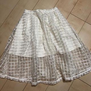 デイシー(deicy)のdeicy スカート ホワイト(ひざ丈スカート)