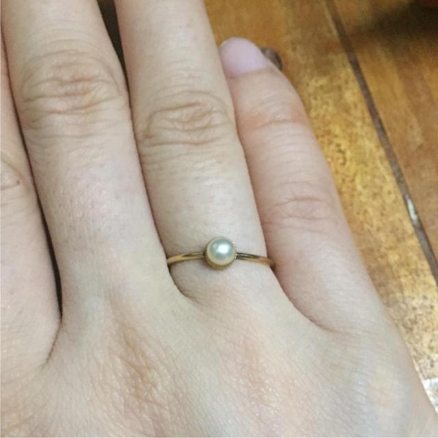 nano・universe(ナノユニバース)のパールリング レディースのアクセサリー(リング(指輪))の商品写真