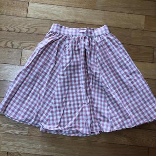 アドリー(ADREE)のADREE ギンガムチェック柄スカート(ひざ丈スカート)