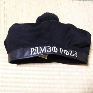 パメオポーズ(PAMEO POSE)のPAMEO POSE☆ポンポン付きベレー帽☆黒(ハンチング/ベレー帽)