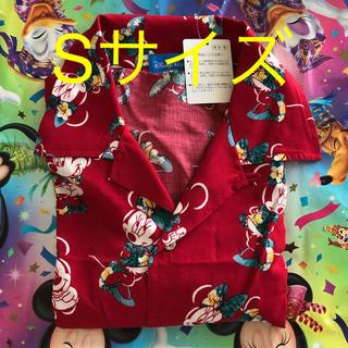 ディズニー(Disney)の新品タグ付☆ ミニー アロハシャツ 赤 S ディズニーリゾート(シャツ/ブラウス(半袖/袖なし))