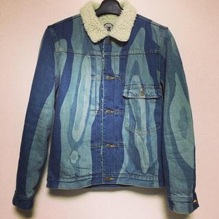 """アンリアレイジ(ANREALAGE)のANREALAGE 17a/w """"ROLL"""" denim boa jacket(Gジャン/デニムジャケット)"""