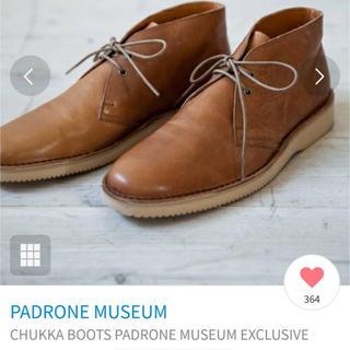 パドローネ(PADRONE)の【ARCOLLETTA】美品 牛革チャッカブーツ 26〜26.5㎝(ブーツ)