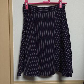 ハニーズ(HONEYS)のストライプミモレ丈スカート(ひざ丈スカート)