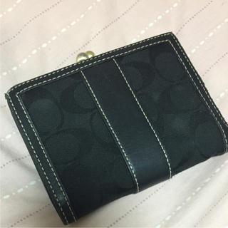 コーチ(COACH)のcoach 財布 がま口 黒(財布)