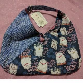 エーエスマンハッタナーズ(A.S.Manhattaner's)の❀マンハッタンナーズの大きめ猫巾着袋❀(ポーチ)