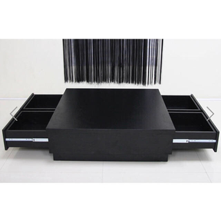アルモニア リビングテーブル ローテーブル ブラック モダン 木(ローテーブル)