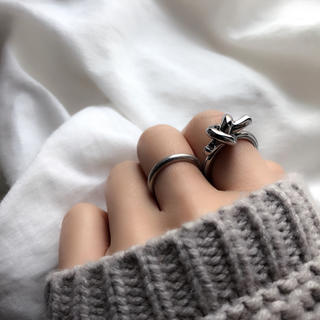 knot ring 13号!銅素材!シルバー 指輪import (リング(指輪))