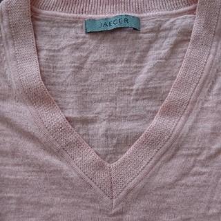 イエーガー(JAEGER)のJAEGERの半袖のニットシャツ(Tシャツ(半袖/袖なし))