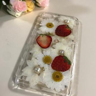 押し花とイチゴ♡iPhoneケース(スマホケース)