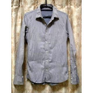 ゴーサンゴーイチプールオム(5351 POUR LES HOMMES)の極美品5351プールオムシワ加工シャツ ブルーグレー 1  25000円(シャツ)