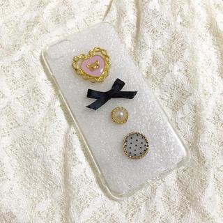 iPhoneケース キャットマスク×黒ピンク(スマホケース)