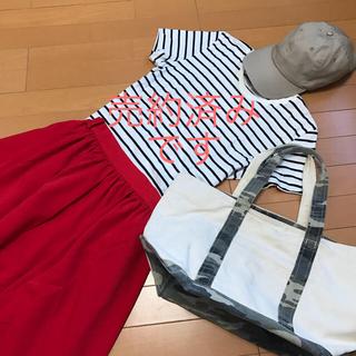 ムジルシリョウヒン(MUJI (無印良品))の無印良品の定番 ボーダー クルーネックTシャツ(Tシャツ(半袖/袖なし))