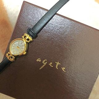 アガット(agete)のagete 時計 黒 早い者勝ち(腕時計)