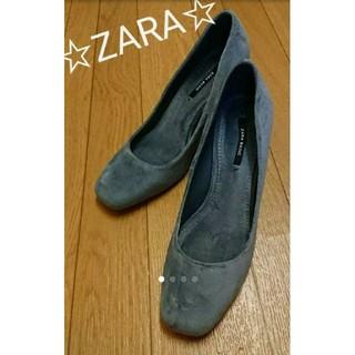 ザラ(ZARA)の☆新品未使用☆ZARAスクエアパンプス23.5cm(ハイヒール/パンプス)