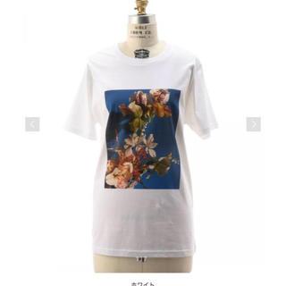 ドゥロワー(Drawer)のFJURA フラワーTシャツ お値下げします(Tシャツ(半袖/袖なし))
