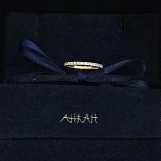 アーカー(AHKAH)のアーカー AHKAH ティナフルエタニティ ピンキー リング アガット(リング(指輪))
