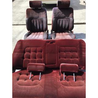 トヨタ(トヨタ)のgx71 ツインカム24 純正赤内装 シートセット(車種別パーツ)
