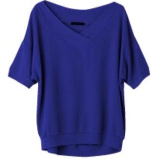 サマーニット ロイヤルブルー(カットソー(半袖/袖なし))