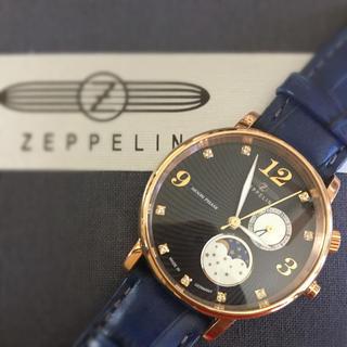 ツェッペリン(ZEPPELIN)の定価6万【ツェッペリン・ルナ】ムーンフェイズ稼動品(腕時計)