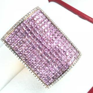 1442 ピンクサファイア7.85ct ダイヤモンド0.45ct ゴールドリング(リング(指輪))