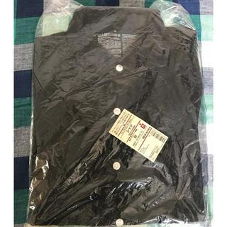 ムジルシリョウヒン(MUJI (無印良品))の新品 無印良品 メンズ  フレンチリネン  洗いざらし シャツ 長袖ネイビー M(シャツ)
