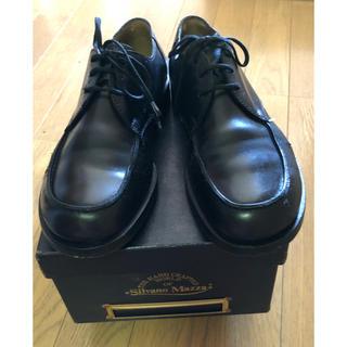 シルバノマッツァ(SILVANO MAZZA)のシルバノマッツァ Uチップシューズ 黒 38(ローファー/革靴)