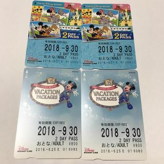ディズニー(Disney)のディズニー リゾートライン 2day 35周年 バケパ 大人4枚(その他)