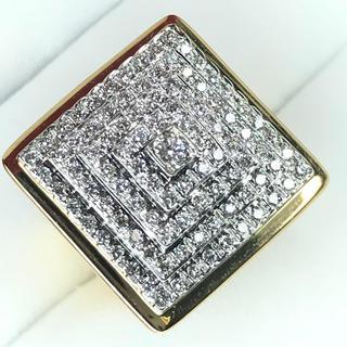 1444 ダイヤモンド 0.80ct YGK18 ゴールドリング 12号(リング(指輪))