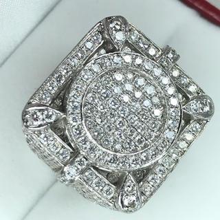 1445 ダイヤモンド 8.00ct PT900 プラチナ リング 14号(リング(指輪))