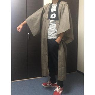 コムデギャルソン(COMME des GARCONS)のまだら模様 日本伝統柄着物羽織 長襦袢 半纏 浴衣 ガウン ロングコート 渋い(着物)