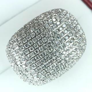 1448 ダイヤモンド 10.00ct PT900 プラチナリング 13号(リング(指輪))