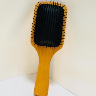 ムジルシリョウヒン(MUJI (無印良品))の無印 木柄頭皮ブラシ(通称:パドルブラシ)(ヘアブラシ/クシ)