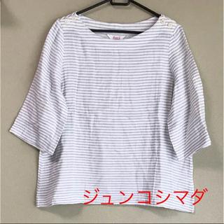 ジュンコシマダ(JUNKO SHIMADA)のボーダートップス(カットソー(半袖/袖なし))