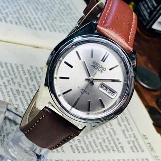 セイコー(SEIKO)の70's Vint. セイコー アクタス 自動巻 OH済み シルバーダイヤル(腕時計(アナログ))
