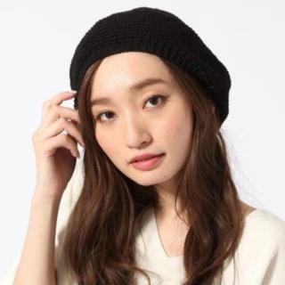 ジーナシス(JEANASIS)のベレー帽 黒 JEANASIS(ハンチング/ベレー帽)