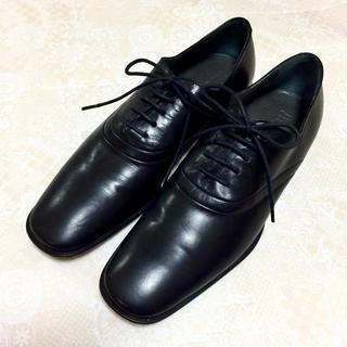 ジルサンダー(Jil Sander)の正規品 ジルサンダー  シューズ ドレスシューズ パンプス ブラック 黒 美品(ローファー/革靴)
