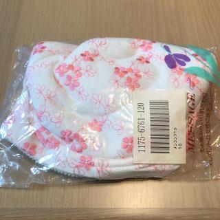 未使用 ブラ ワイヤーあり E100 花柄 ピンク 白 (ブラ)
