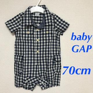 53a48b9599e6e babyGAP - babyGAP ギンガムチェックショートオール 70cmの通販 ラクマ