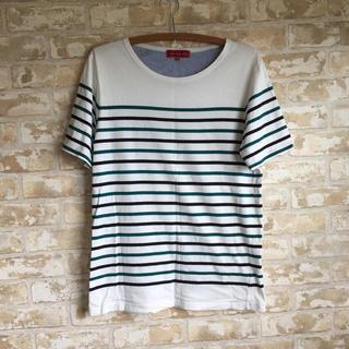 シマムラ(しまむら)のボーダーTシャツ(Tシャツ/カットソー(半袖/袖なし))