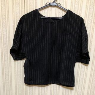 ジーユー(GU)のストライプ柄トップス(シャツ/ブラウス(半袖/袖なし))