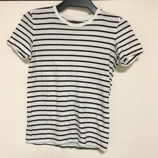 ムジルシリョウヒン(MUJI (無印良品))の無印良品 ボーダー Tシャツ ホワイト ブラック(Tシャツ(半袖/袖なし))
